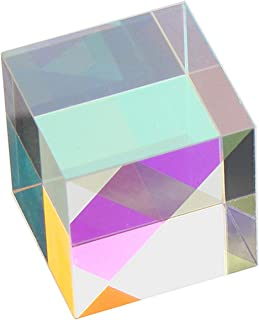 StayMax X-Cube RGB Prism Dispersion Prism for Physics and Decoration 1.33inX1.33inX1.33in(3.4x3.4x3.4cm)