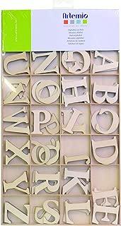 Plateau 30 mm Artémio Alphabet en Bois Lettres majuscules