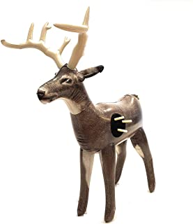"Nxt Generation Jumbo Deluxe 58"" Life Sized Painted 3D Inflatable Deer Target - Archery Target Practice - Inflatable Buck -Suitable for Indoor and Outdoor Play- for Hook and Loop Tipped Foam Darts"