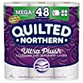 Quilted Northern Ultra Plush Toilet Paper, 12 Mega Rolls, 12 = 48 Regular Rolls, 3 Ply Bath Tissue