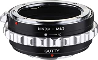 GUTTY ニコンAI(G)/AF Gマウントレンズ-M4/3マウントアダプター、パナソックニ Lumix g1 g2 g6 g7 gh4、オリンパス PEN E-PL7、E-PL8、E-M10 Mark II、om-d e-m10 mark ...