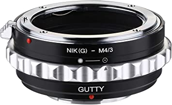 GUTTY Lens Mount Adapter Ring Nikon AI (G) Mount Lens to Micro Four Thirds M43 Camera Body Fits Panasonic Micro and Olympus Micro 4/3 Cameras Adapter GF2 GF3 G2 G3 GH2 E-PL3 PM1