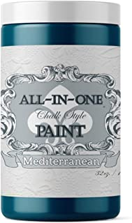 Mediterranean, Heritage Collection All in One Chalk Style Paint (NO Wax!) 32oz Quart