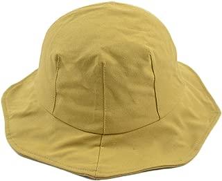 Wild Casual Sunhat Ladies Basin Hat Gray-Purple Lace Fisherman Hat (Color : Khaki, Size : M (56-58cm))
