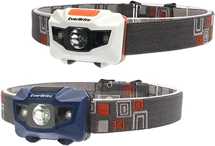 EverBrite 2-Pack LED Headlamp with Red Light 120 Lumens CREE Bulb
