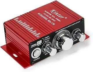 Homyl Vermelho Mini Carro Motocicleta Mp3 Hi-fi Amplificador de áudio Estéreo