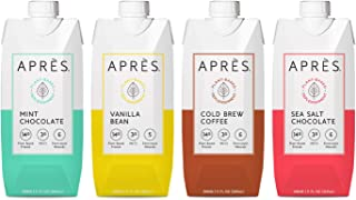 Après Plant-Based Protein Drink Variety Pack with MCTs & Electrolytes, Vegan, Non-GMO, Dairy-Free, Gluten-Free, Soy-Free S...