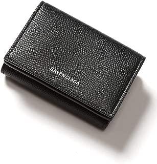 (バレンシアガ) BALENCIAGA レザー ロゴ 三つ折り ミニ財布 VILLE BLACK [BC5582080OTG3] [並行輸入品]