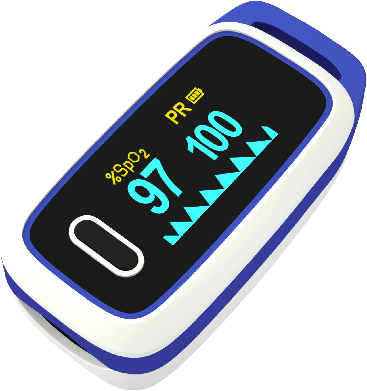 Fingertip Pulse Oximeter - Blood Oxygen Saturation Monitor for Sports or Aviation Use, LED Display Oximeter with SpO2 Levels and Pulse Rate : Health & Household