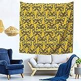 Lsjuee Lazos de Cintas Tapiz para Colgar en la Pared decoración del hogar Fan Art para Dormitorio Sala de Estar Dormitorio 59x59 Pulgadas