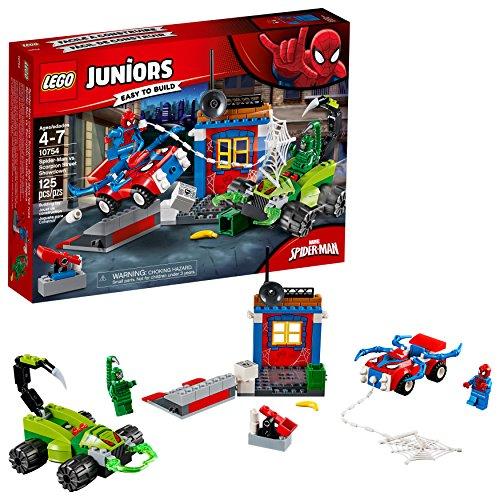 LEGO Juniors/4+ Marvel Super Heroes Spider-Man vs. Scorpion Street Showdown 10754 Building Kit (125 Pieces)
