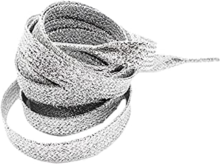 Metallic Glitter Flat Shoelaces for Canvas Sneaker Athletic 45 inch (2 pairs)