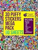 Purple Ladybug Novelty Adesivi in Rilievo 3D per Bambini Confezione Jumbo da 80 Fogli Tutti Diversi e più di 2000 Stickers | Animali, Lettere, Numeri, Macchine, Fiori, Stelle Etc.