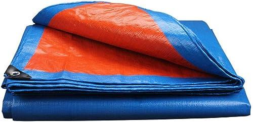 TAO Pluie Bleue Bache Durable imperméable à usages Multiples pour Le Rideau de Vent de Camping en Bateau de différentes Tailles Disponibles (Taille   6x6m)