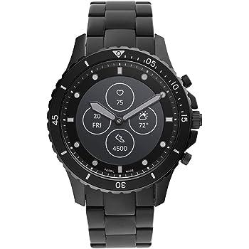 [フォッシル] 腕時計 ハイブリッドスマートウォッチHR FTW7017 メンズ 正規輸入品 ブラック