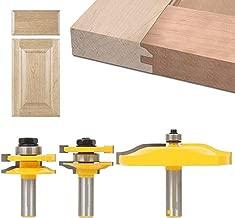 XKSIKjian's Hardware Tool, 3 Pcs Carbide Cabinet Door Router Bit Set Tenon Knife Cutter Woodworking Home Improvement Tools Kit