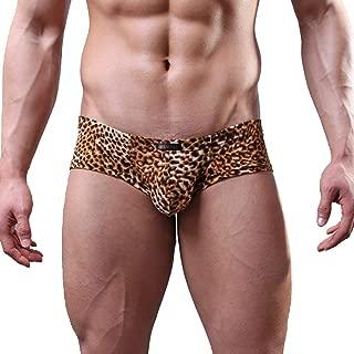 Sexy Men's Low Waist Bamboo Thong Leopard Underwear