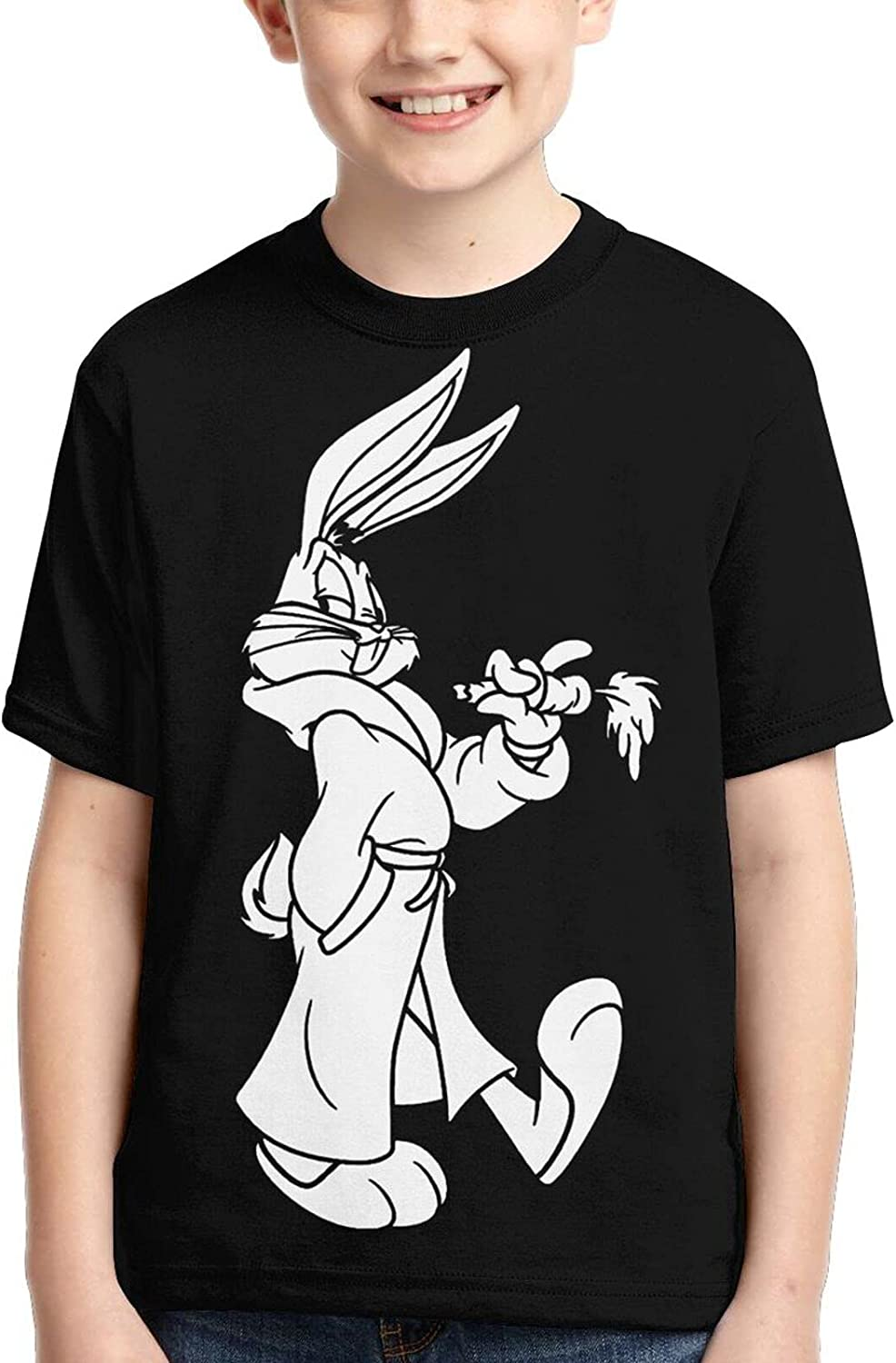 FANPANHE Bugs Bunny Fashion Trend Boys Round Lowest price challenge Now free shipping Print Sl Short Neck