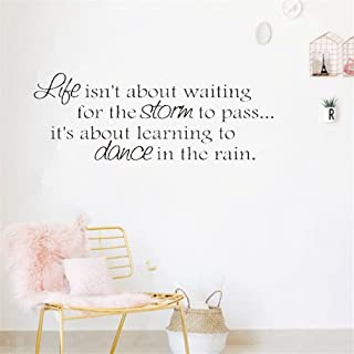 steriu Wall Sticker Removable Home Decor Wall Vinyl Decals Learn to Dance in The Rain