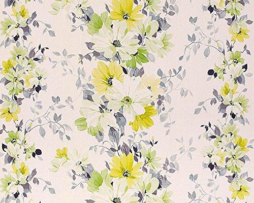 Nappes Papier peint bleu fleurs lignes cercles papier peint XXL nappes papier peint