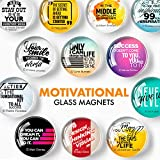 Inspirational Magnets for Fridge – Glass Decorative Magnets for Refrigerator – Cute Fridge Magnets for Kitchen and Office – Locker Magnets for Girls and Boys – Funny Whiteboard Magnets