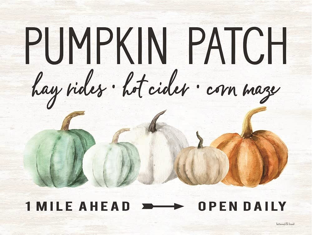 Pumpkin Patch by Lettered Lined Art 16 Spring new work one after another x Regular store 12 Print inches