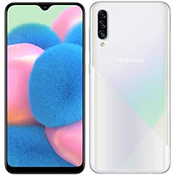 "Samsung Galaxy A30S w/On-Screen Fingerprint (64GB, 4GB) 6.4"", Triple Camera, Dual SIM GSM Unlocked A307G/DS - US + Global 4G LTE International Model (Prism Crush White, 64 GB)"