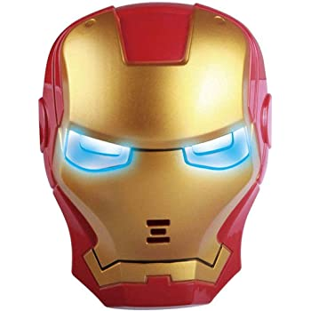 Western Era Light-Up Avengers LED Mask, Perfect for Costume Parties, Cosplay and Dress-up (Ironman)