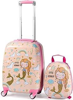 Roulettes Cabin Valise sac petite bagages à main Femmes Filles Pliable Voyage Rose