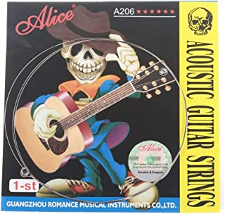 Musiclily Alice Stainless Steel Acoustic Guitar E-1st Strings(5 Pieces)