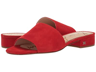 Sam Edelman Kenz (Candy Red Suede Leather) Women