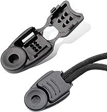 Premium Nylon Zipper Pulls Cord Rope End Paracord Zipper Pull Ends for Layyard,DIY Replacement Zipper Fixer (Black, 50 PCS)