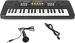 SAOCOOL Keyboard Piano for Kids, 37 Keys Multifunctional Electronic Kids Keyboard Piano Toy for Children Over 3 Years Old (Black)
