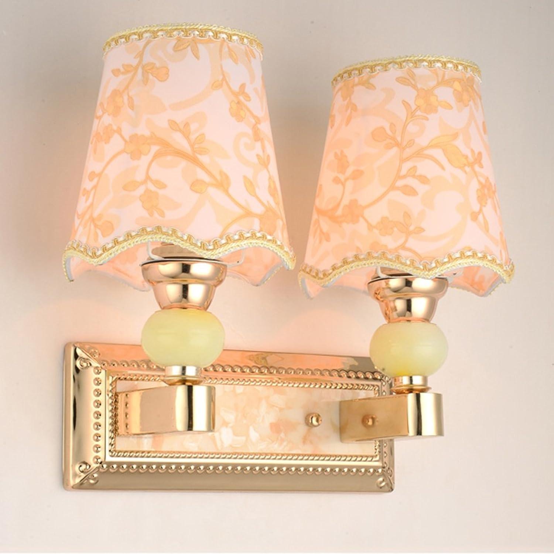 Europische moderne einfache Wand Lampe Nachttisch Schlafzimmer Wohnzimmer Hotel Restaurant einstellbar Licht (gre   Double head)