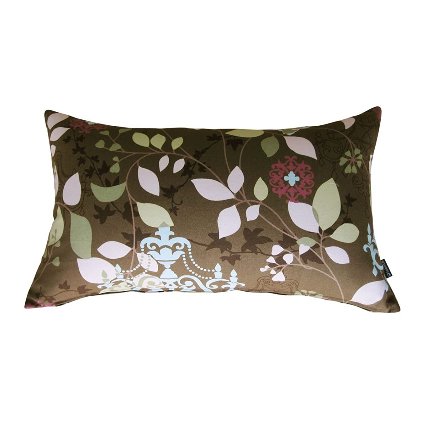 ブラシ毎月くすぐったいfabrizm 日本製 クッションカバー 長方形 50×30cm ラピュア ブラウン 1747-br-br
