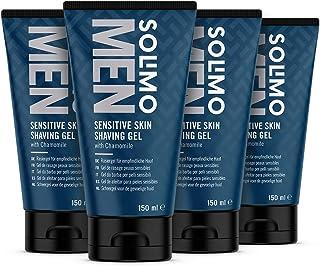 Amazon-Merk: Solimo Men Sensitive Skin Scheergel, 4 x 150ml