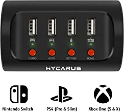 HYCARUS Wireless Keyboard and Mouse Adapter with Controller Converter for PS4/ Xbox One/Nintendo Switch. Perfect for Games Like FPS, TPS, RPG and RTS, etc.