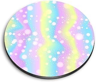 Destination 16791 Aimants ronds en MDF Motif licorne arc-en-ciel pastel pour bureau, armoire et tableau blanc
