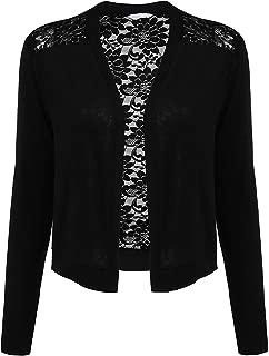 Women's Long Sleeve Cotton Bolero Shrugs Crochet Lace Open Cardigan S-XXL