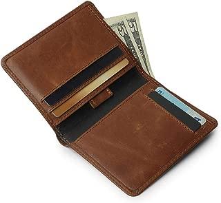 Minimalist Men's Wallet- Note Sleeve Slim Leather wallet for Men, Full Grain Leather Handmade Wallet, RFID Blocking- Gifts For Men