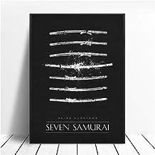 Seven Samurai Black White Classic Movie Posters WALL Art Decor Painting-60x80cm Sin marco
