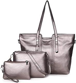 Vintage Handbag 3 Piece Set Versatile Multi Piece Set (Color : Champagne)