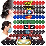 Pitaya Adjustable Leather Mask Strap, 10 PCS Face Mask Hook Ear Protector Ear Strap Extender Buckle for Relieving Pressure and Pain Mask Hooks