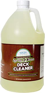 Wash Safe Industries WS-SC-1G Clear Spray and Clean Composite Deck Cleaner, 1 gal Bottle