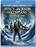 DVD cover art for Percy Jackson and the Olympians: The Lightning Thief.