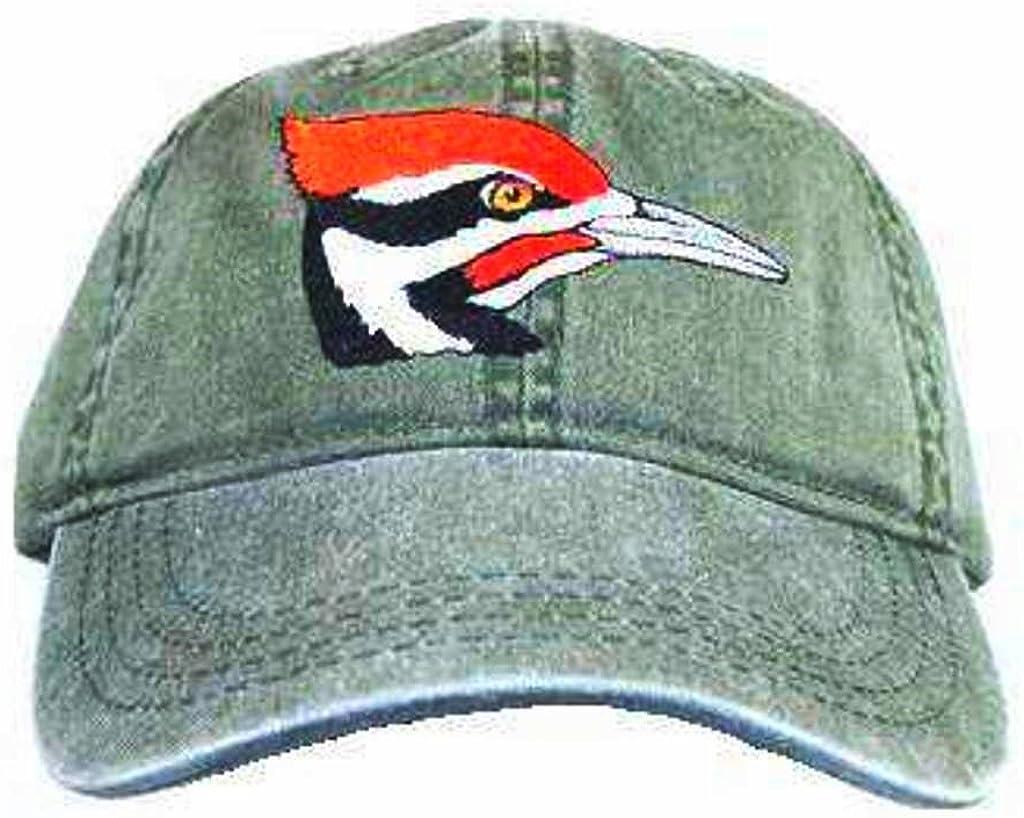 Tom's Weekly update Bird Feeders Pileated trust Woodpecker Embroidered Gr Cotton Cap