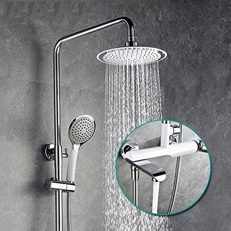 Die Dusche Cr Weiß Mix Dusche drei Anzug heben Handbrause Duschkopf
