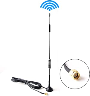 Antena de extensión para el sistema de respaldo inalámbrico del coche Monitor Amplificador de cámara Amplificador de señal de video digital/analógico Cable aéreo SMA Conector macho 10FT