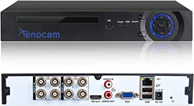 Xenocam 8CH 1080N Hybrid 5-in-1 AHD DVR (1080P NVR+1080N AHD+960H Analog+TVI+CVI) Standalone DVR CCTV Surveillance Security System Video Recorder Motion Detection HDD & Cameras not Included