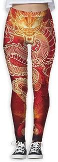 XMKWI Chinese Fire Dragon Women Power Flex Gym Yoga Pants Workout Tights Leggings Trouser